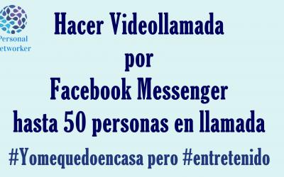 Como hacer videollamadas por Facebook gratis #Yomequedoencasa